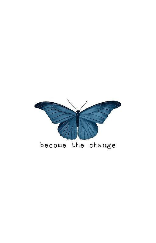 Blue Butterfly - Become The Change iPhone Case & Cover by Sago-Design
