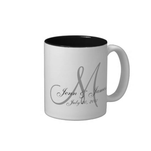 Custom coffee cup wedding favors! COFFEEMUG-W/MF. As low as $1.49 each. Call for available colors. #wedding #coffee #cup #partyfavors