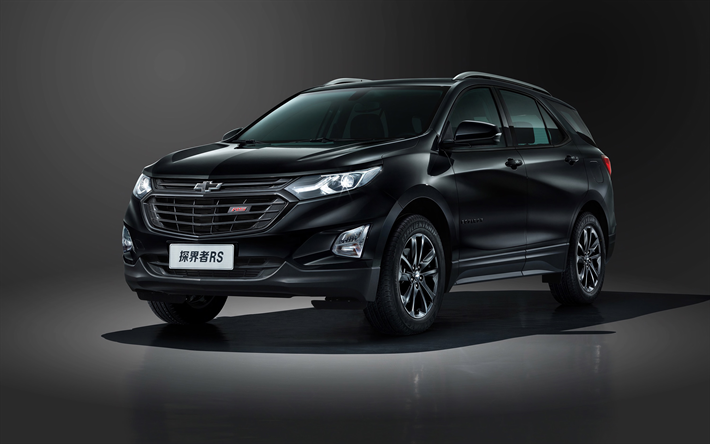 Download Wallpapers Chevrolet Equinox Rs 2018 Black Suv