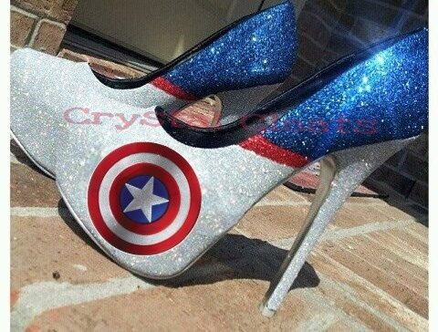 Hey I Found This Really Awesome Etsy Listing At Https Www Etsy Com Listing 216474486 Captain Capt America Theme Costume With Images Heels Sparkly High Heels