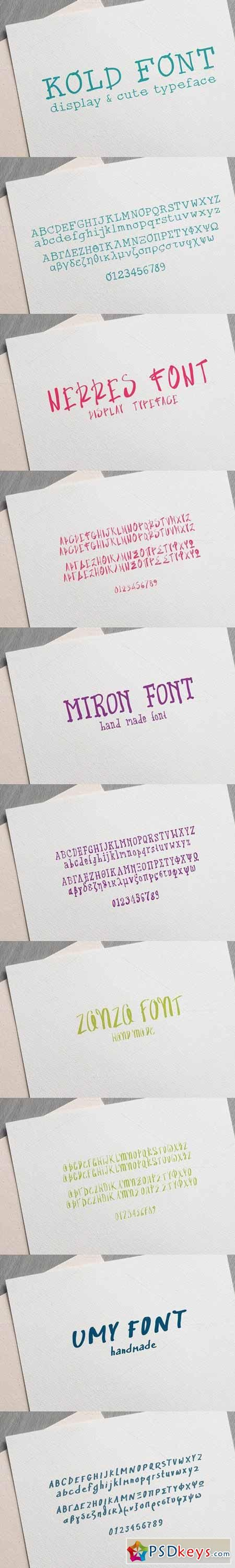 Download 5 Handmade Fonts Surprise Pack 586870 | Handmade font ...