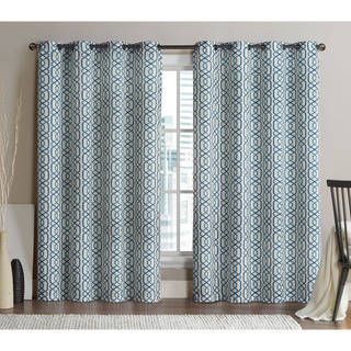 VCNY Alexander Grommet Top 96 Inch Blackout Printed Curtain Panel