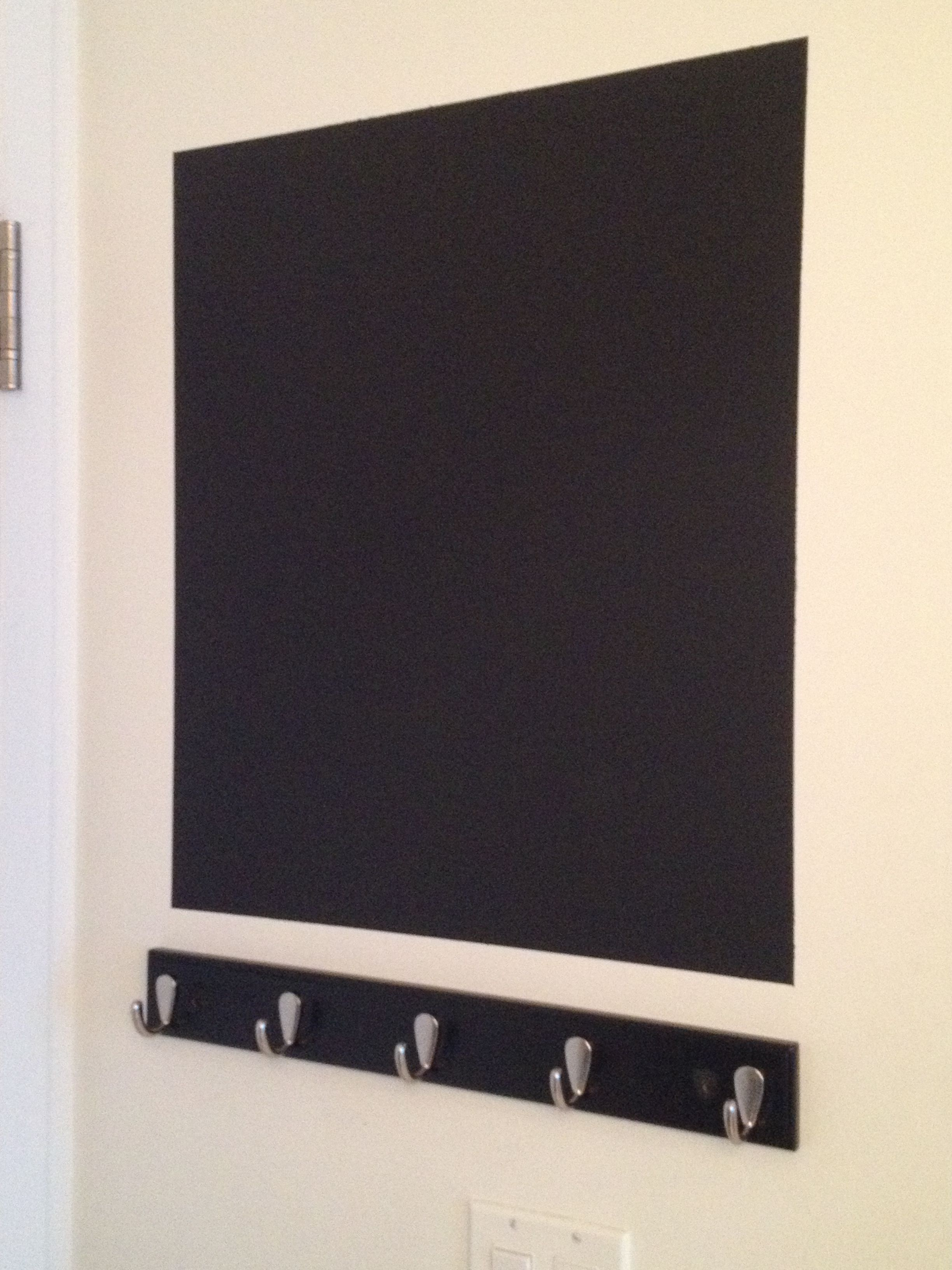 DIY Chalkboard ....paint, brush and a wall gives you an easy message board