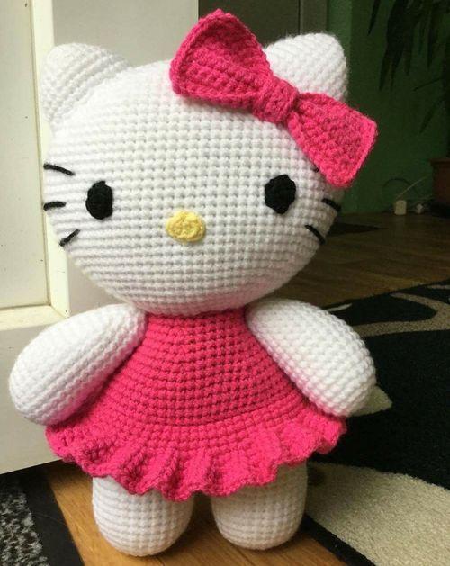 Big Hello Kitty - Free Pattern (Crochet For Children) | Pinterest ...