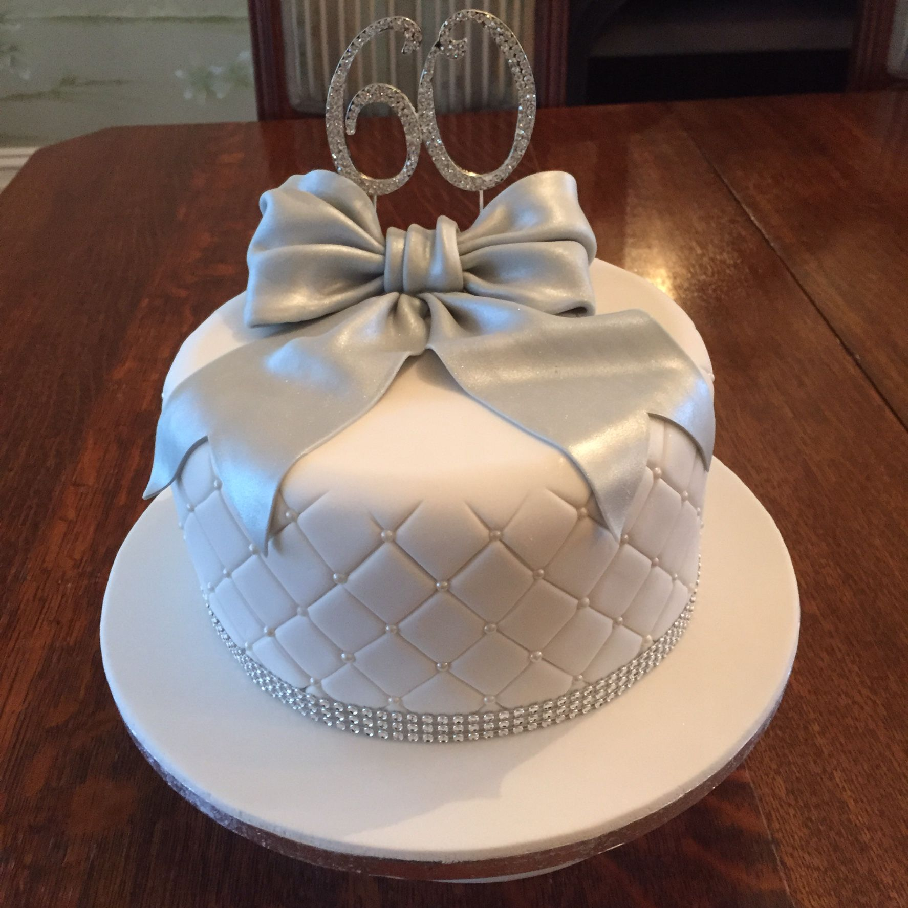 60th Wedding Anniversary Cake With A Little Bling 60 Wedding