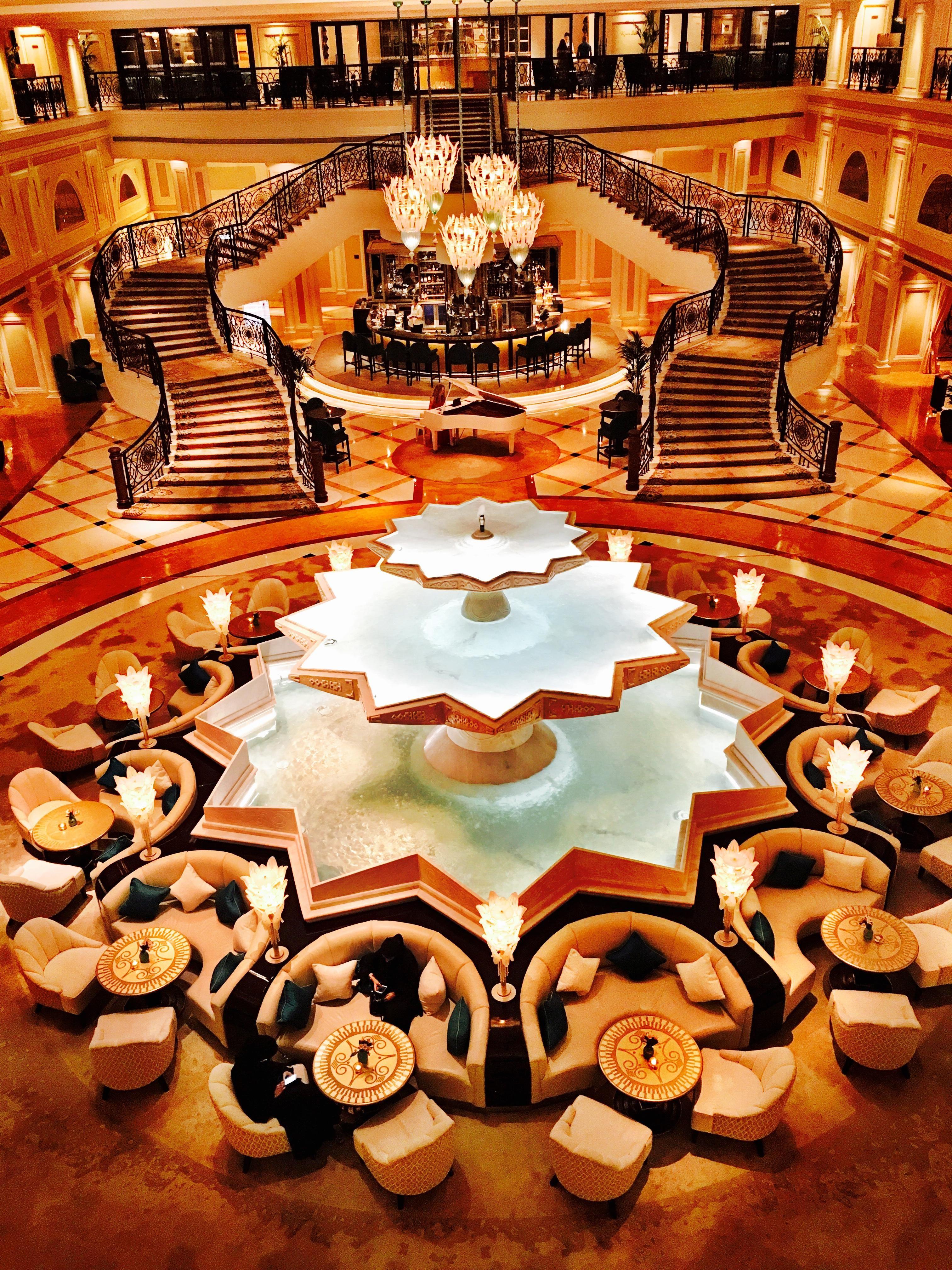 ITAP of the impressive lobby at the Wardolf Astoria in Ras Al Khaimah http://ift.tt/2hpSgam