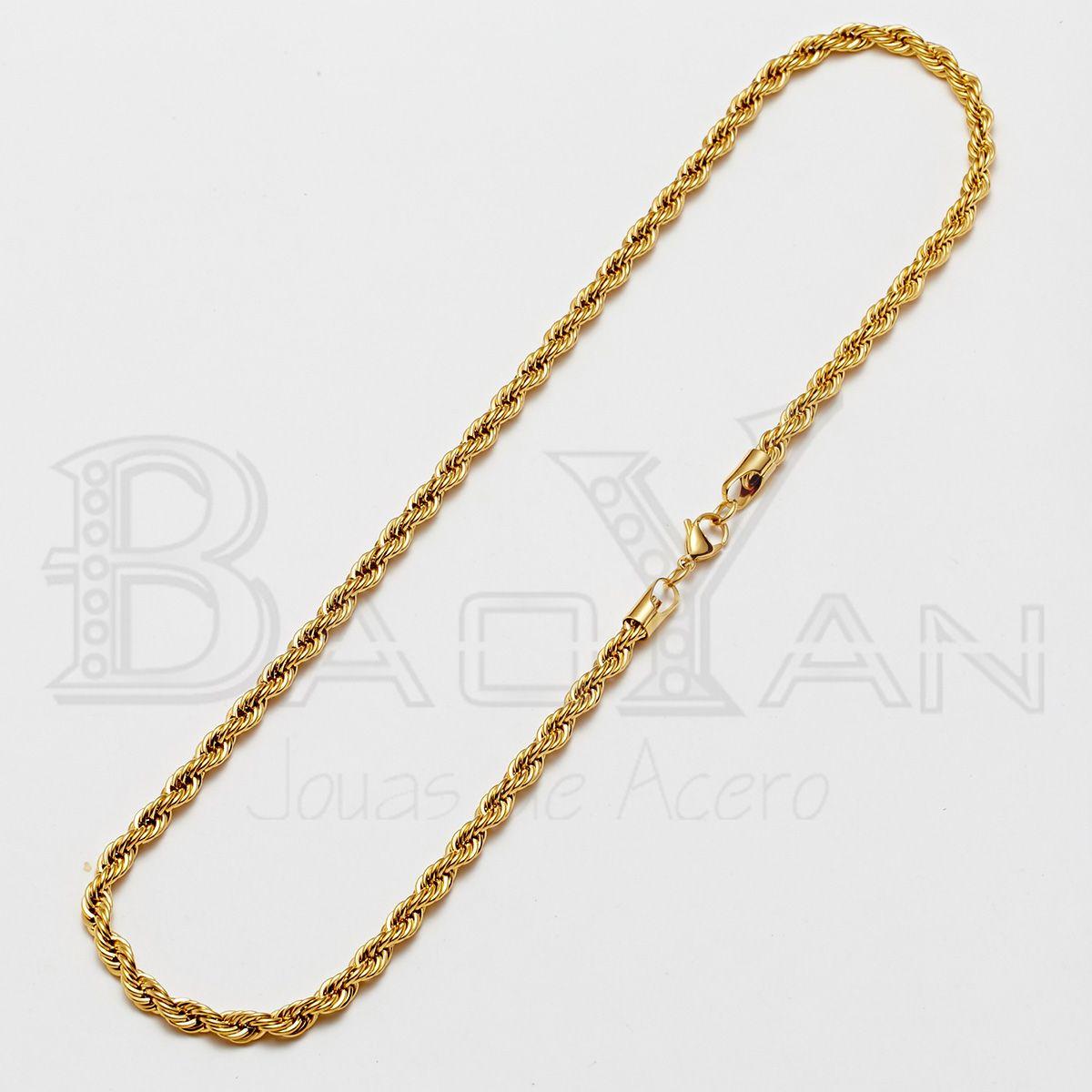 9925da28d65c joyas de acero inoxidable para hombre cadena color dorado
