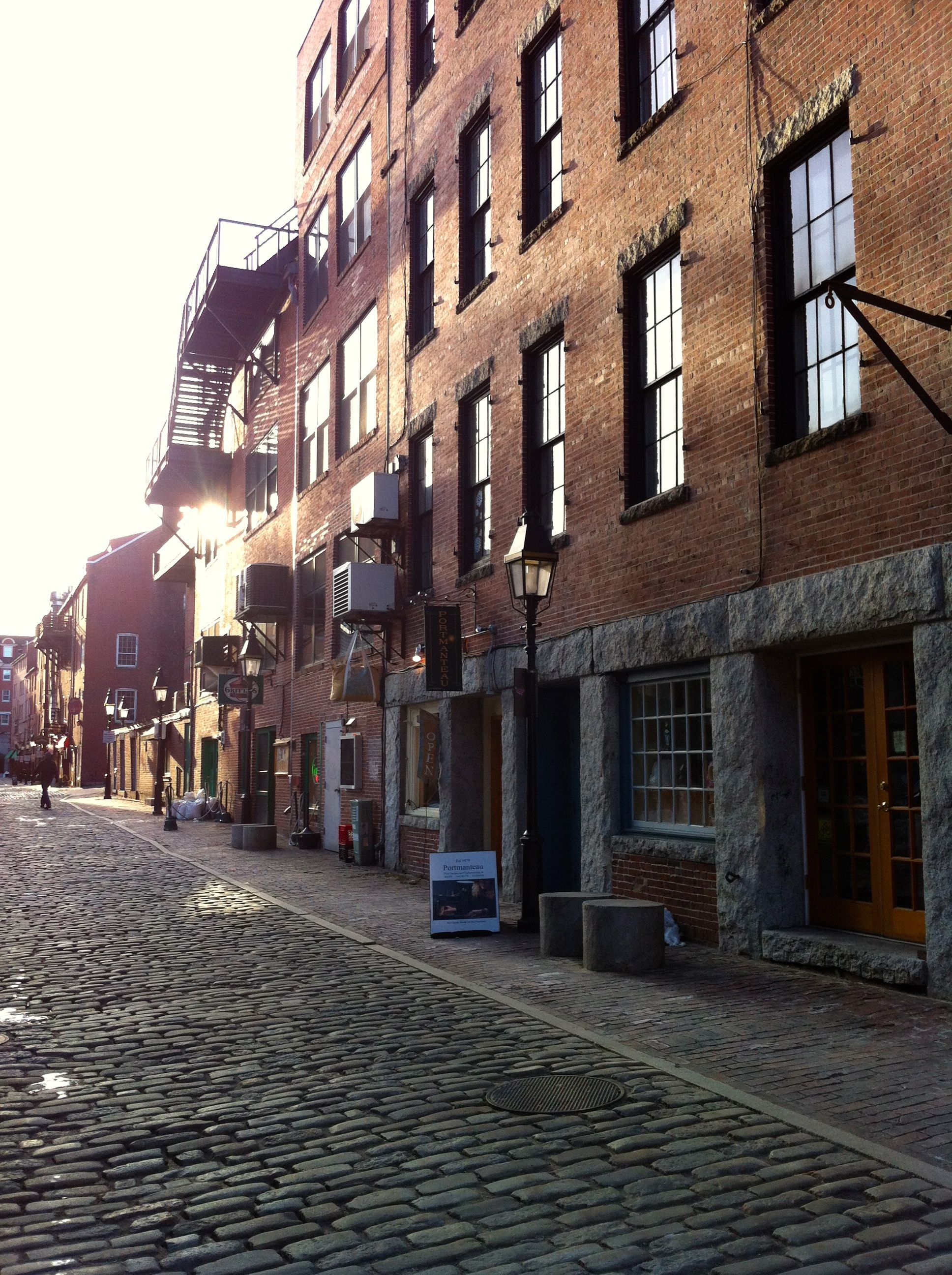The Old Port Portland Me Beautiful Brick Buildings Cobblestone Streets Lots
