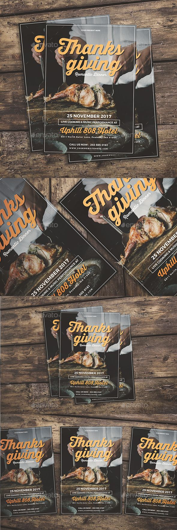 Thanksgiving Dinner Flyer  Font Logo Fonts And Logos