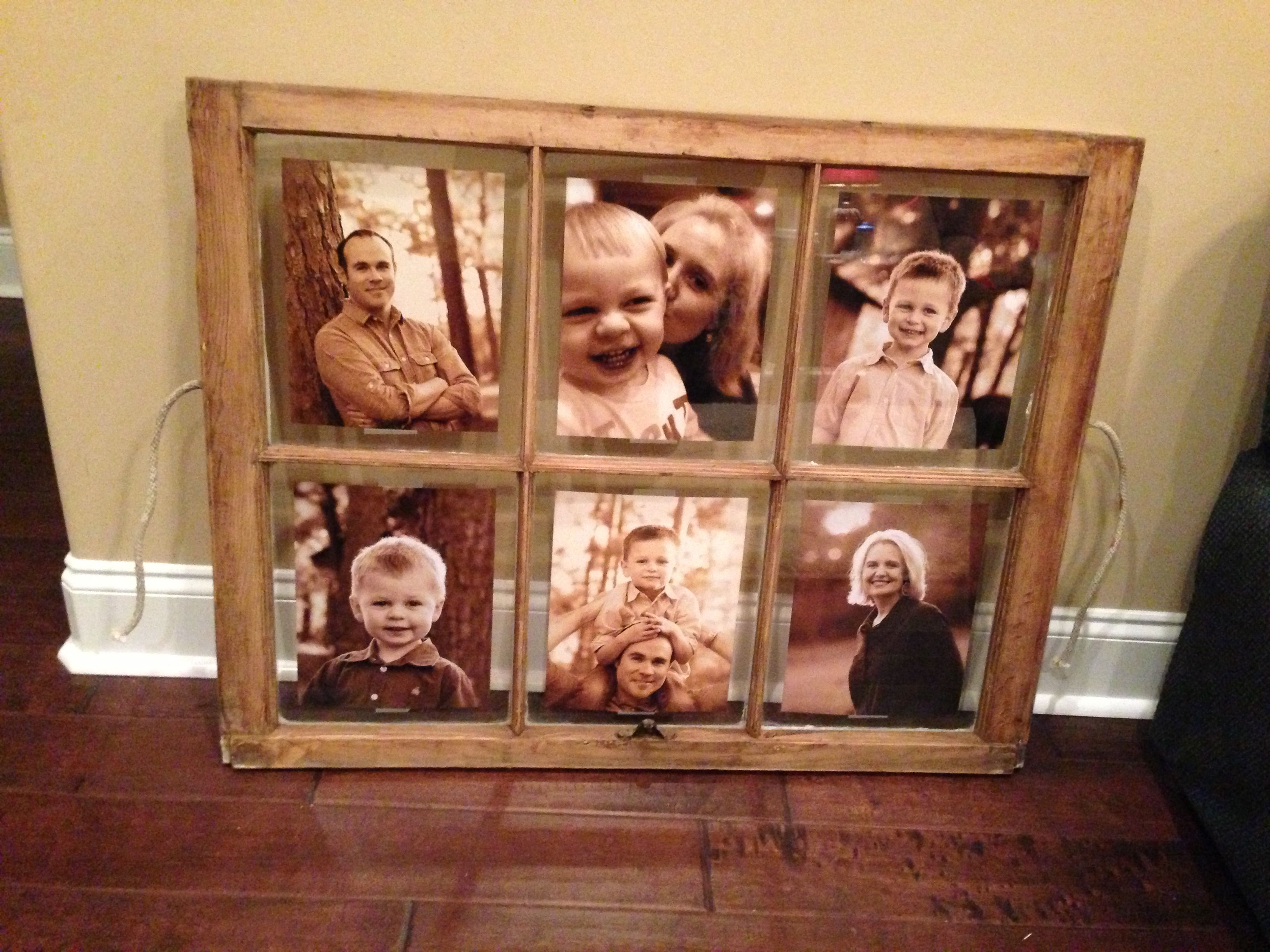 Turning An Old Window Into My Family Photo Frame
