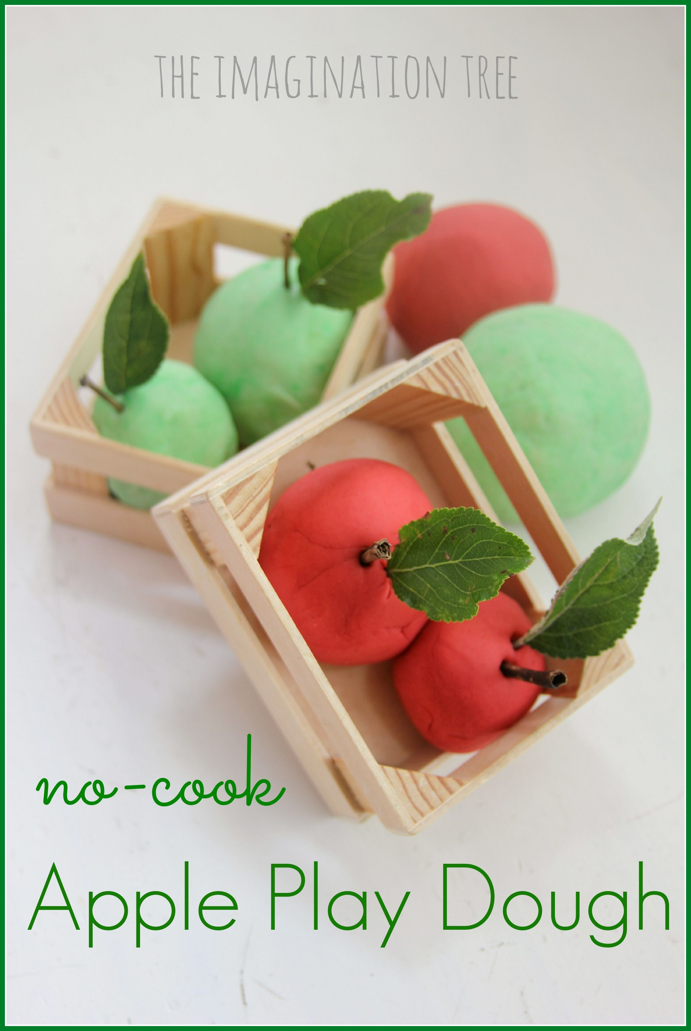 No Cook Apple Play Dough Recipe Cooked apples