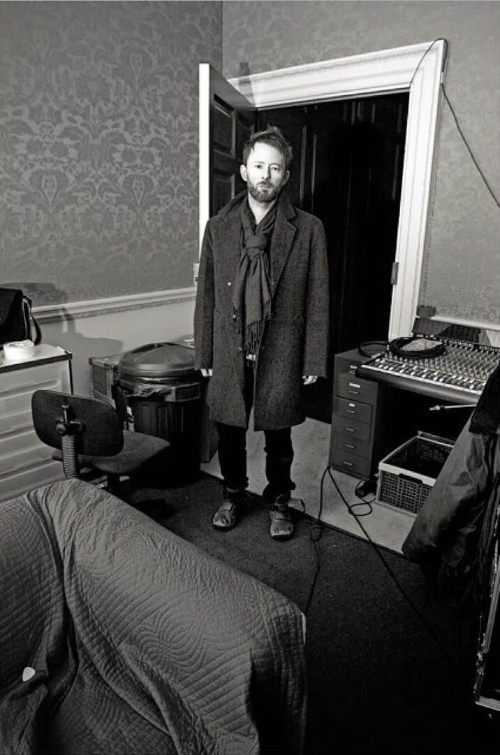 "56f0570e4 msyorke: "" Thom Yorke, Taken during the recording of In Rainbows.© Steve  Keros """