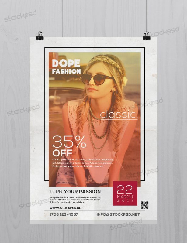 Dope classic fashion free psd flyer template httpstockpsd dope classic fashion free psd flyer template httpstockpsd maxwellsz