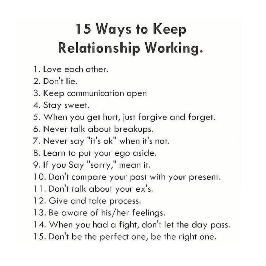 A keep ways relationship going to 14 Ways