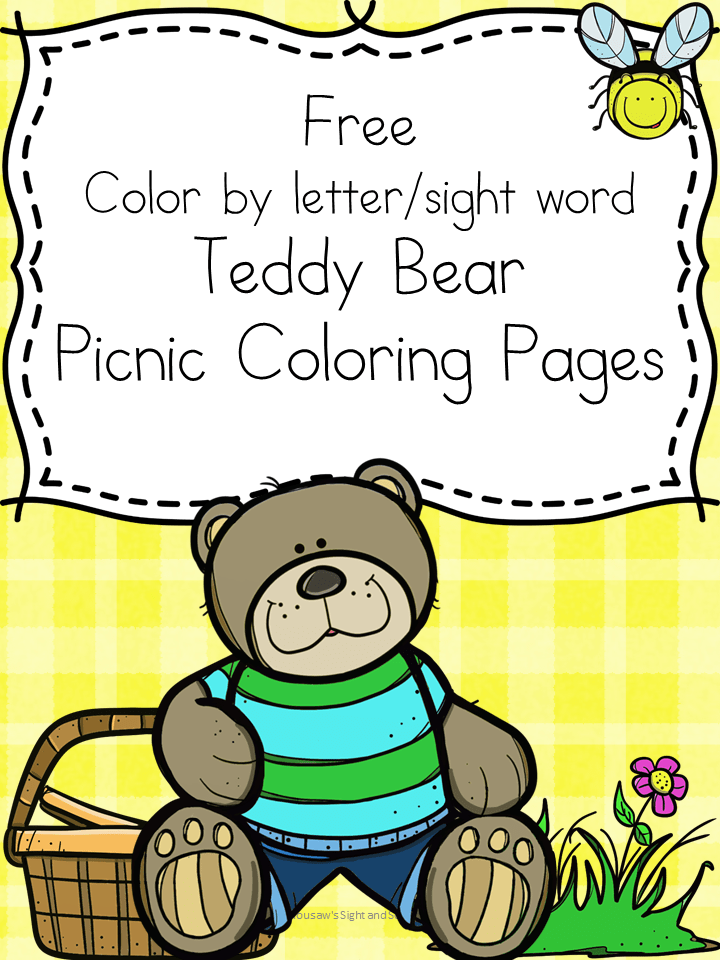 Teddy Bear Picnic Coloring Pages Free and fun! Teddy