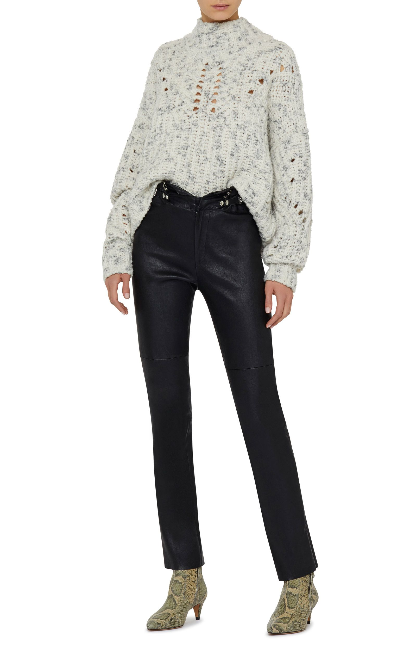 Isabel Marant Jilly Arty Chunky Knit Wool Sweater