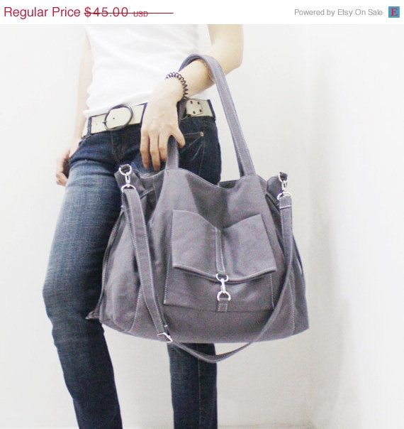 WOMEN DAY SALE Ez in Gray Shoulder Bag / Tote / Purse / by Kinies