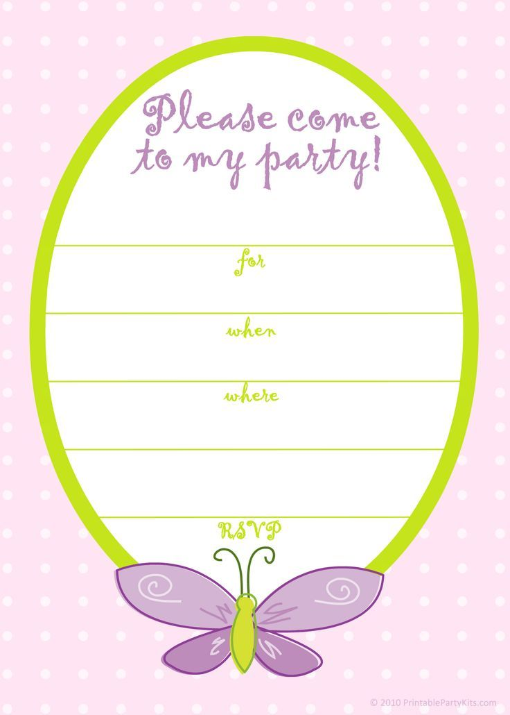 Awesome Butterfly Birthday Invitations Template  Free Printable