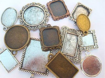 Picture frame pendants lovely beads pinterest beads picture frame pendants mozeypictures Gallery