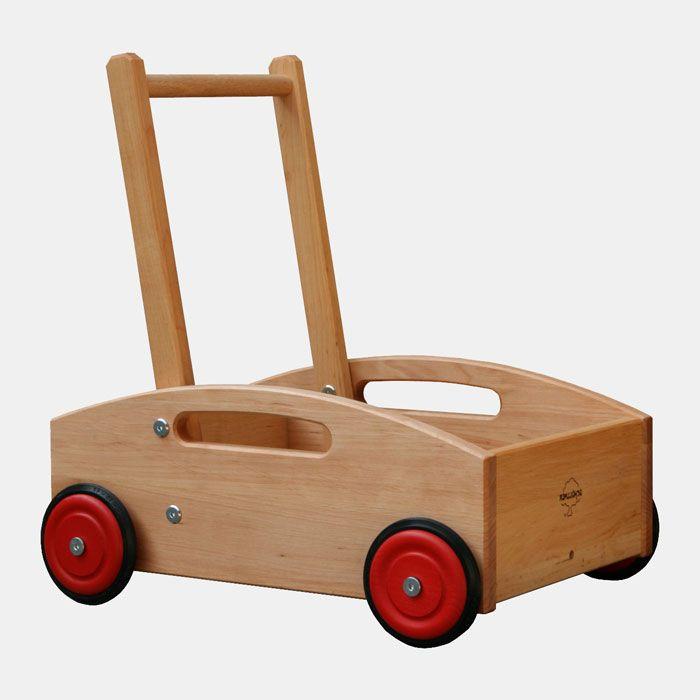 Play Pram Lauflernwagen Holzspielzeug