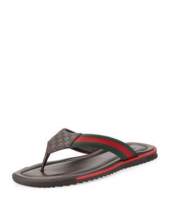 333db7691 Gucci GG Bloom Rubber Flip Flops ( 270) ❤ liked on Polyvore featuring  shoes