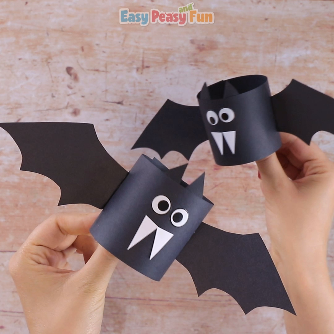 This lovely paper bat craft for kids is super easy to make.