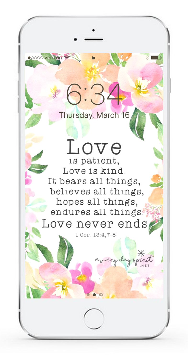 Love Is Patient Love Is Kind Quote Fill Your Screen With Loveevery Day Spirit Lock Screens Is An
