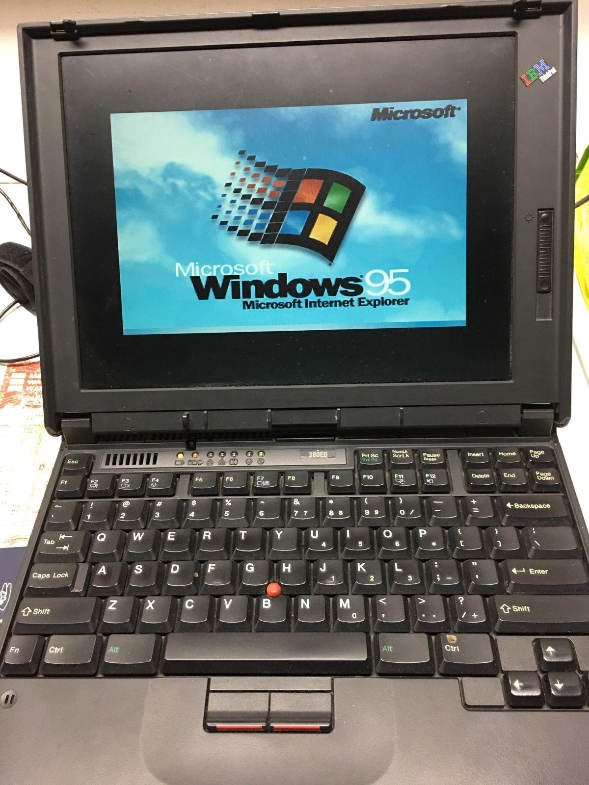 Working IBM Thinkpad llaptop 380ED 12 1 screen 80mb ram 2gb