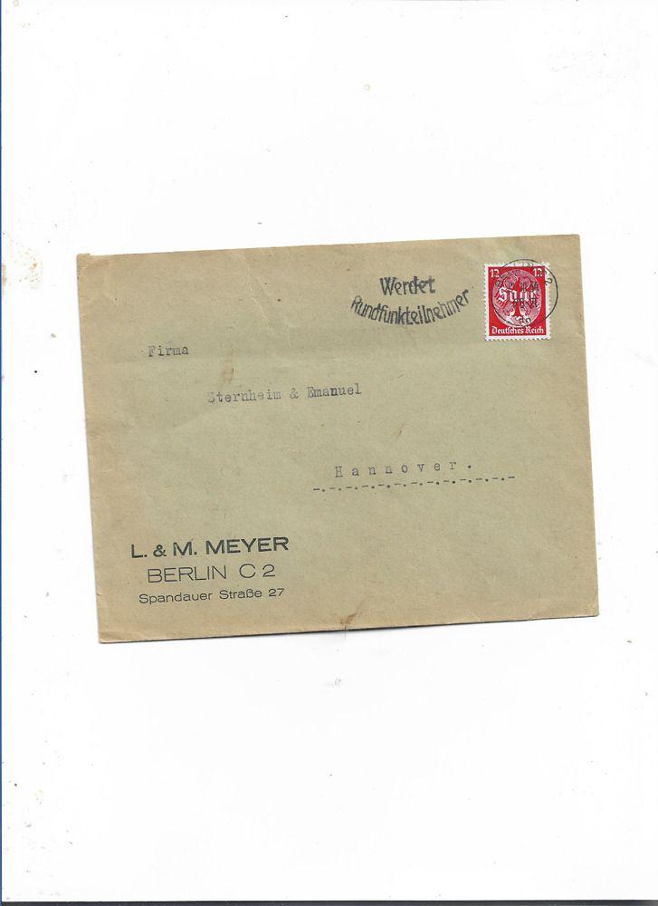 Brief Von Berlin Nach Hamburg 1942 Hamburg