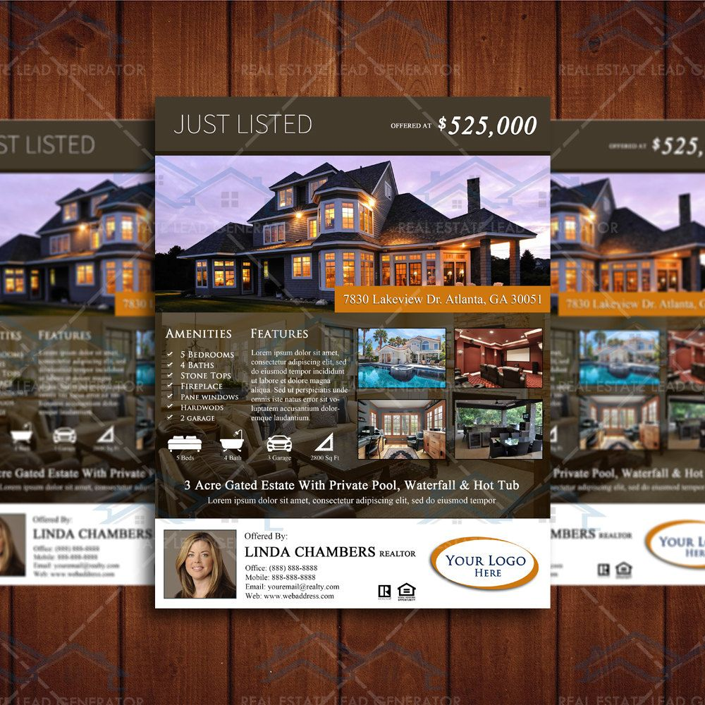 Property Listing Brochure Template Newly Listed Real Estate Flyer
