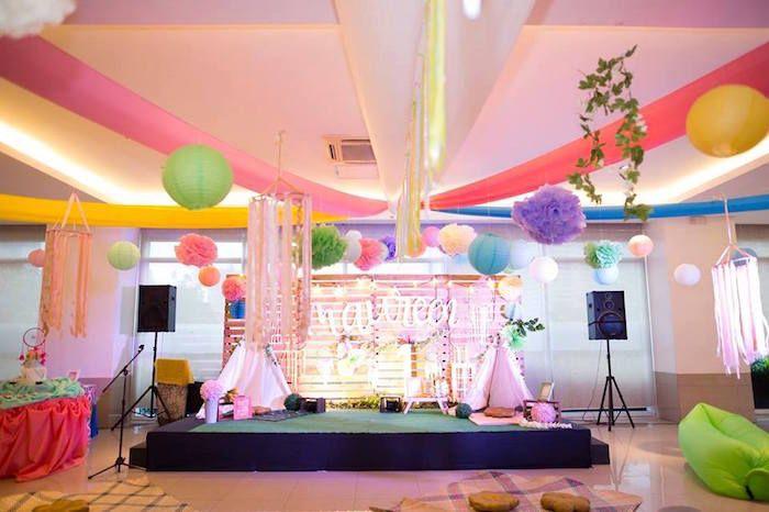 Bohemian Coachella Inspired Birthday Party