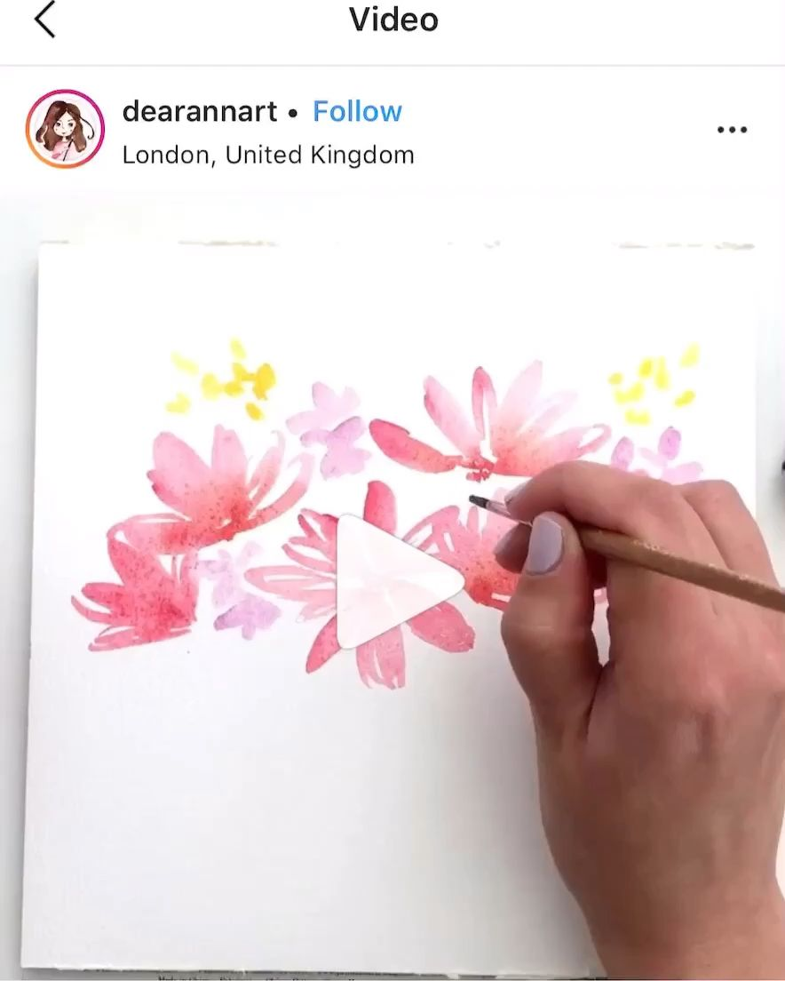 Watercolor floral illustration  #easywatercolorpaintings