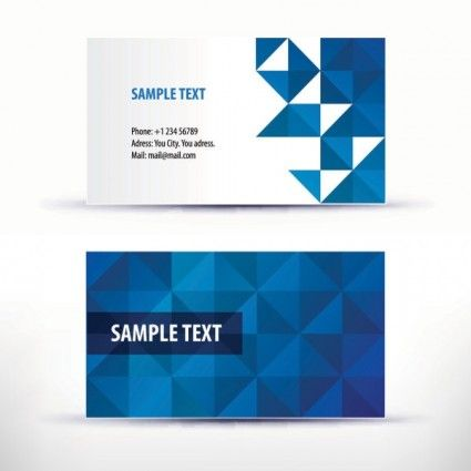 Simple Pattern Business Card Template Vector Abstract - Indesign business card template free