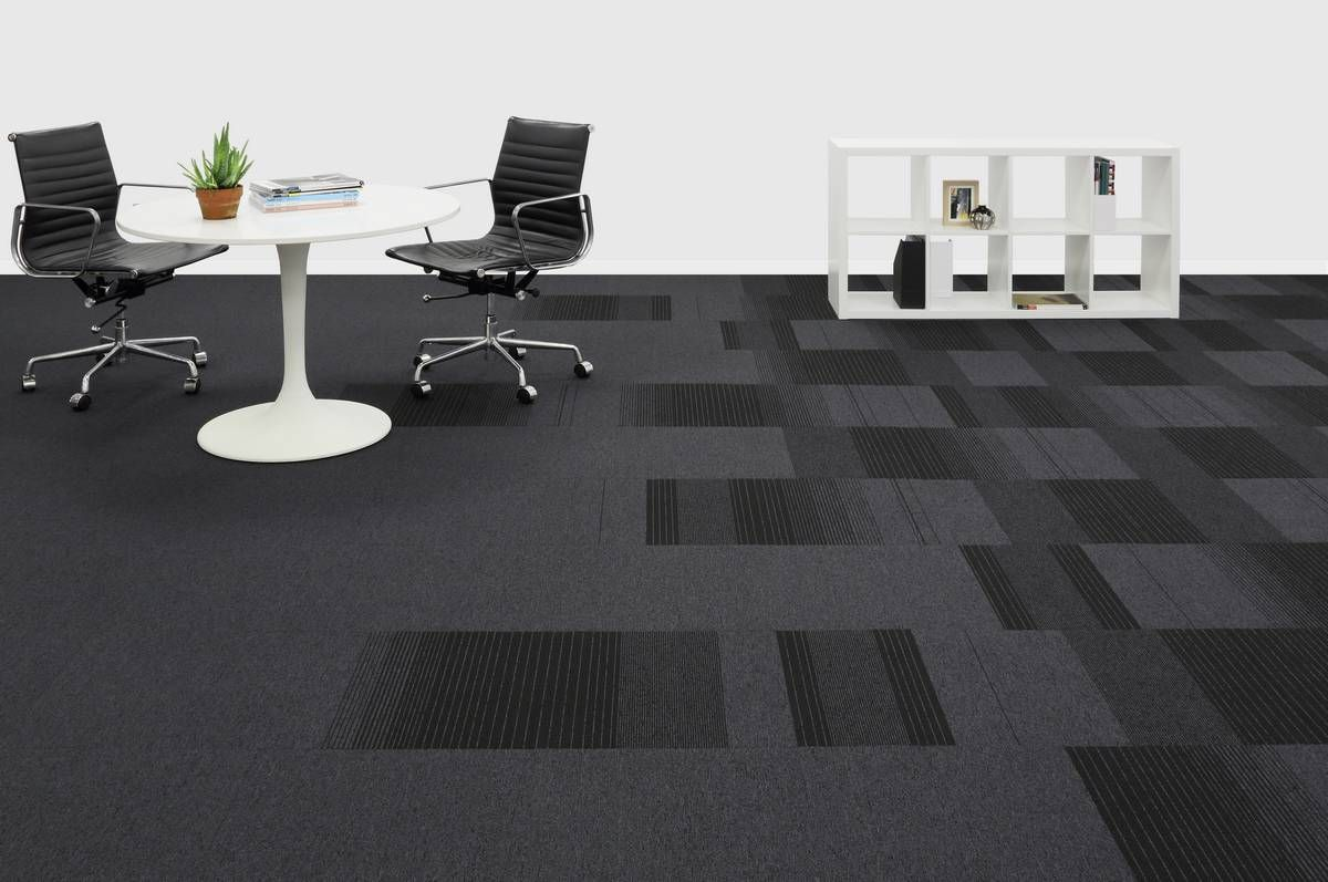 Balance Echo Is A Dark Low Level Loop Carpet Tile With A
