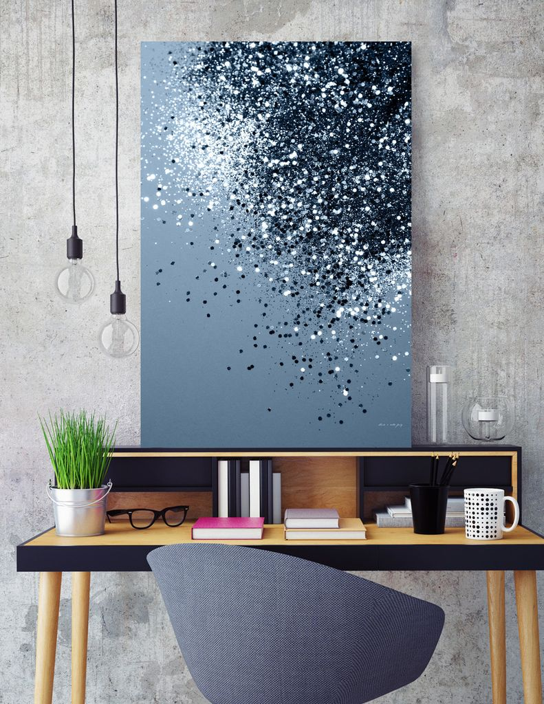 «Sparkling Blue Lady Glitter #2 #shiny #decor #art» Canvas Print by Anita's & Bella's Art - Numbered Edition from $59