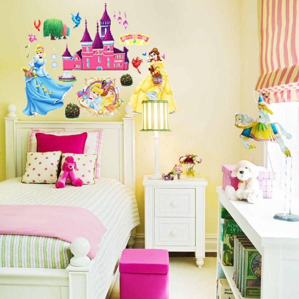 castle wall sticker | Quick Overview | Disney Princess Bedroom ...