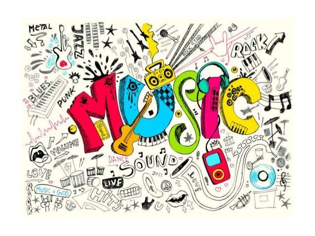 Resultado de imagen de notas musicales de colores para facebook