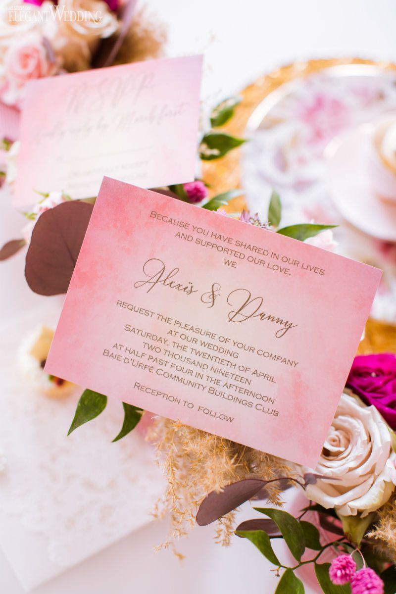 A jewel tone wedding with pampas grass jewel tone