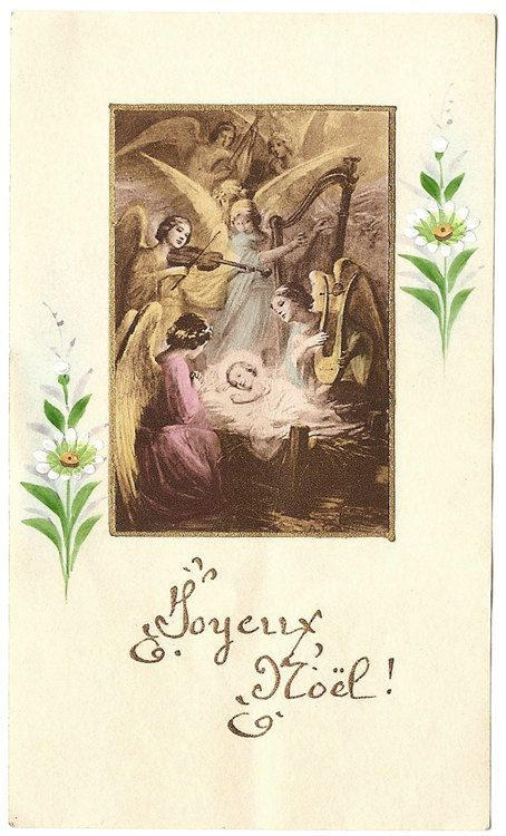 Christmas Nativity Scene with Angels Antique by 12StarsVintage
