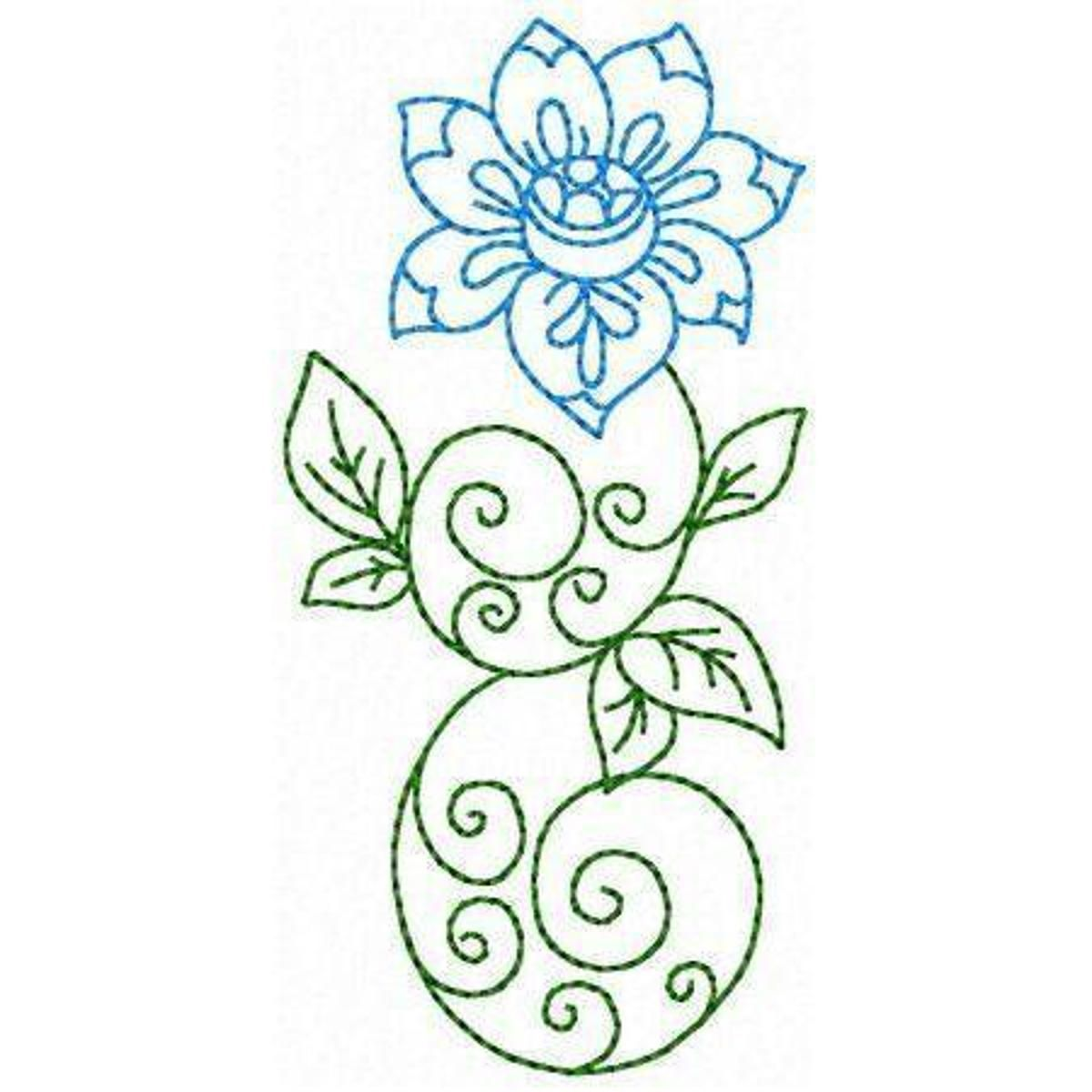 Elegant flowers embroidery pattern flowers u leaves pinterest
