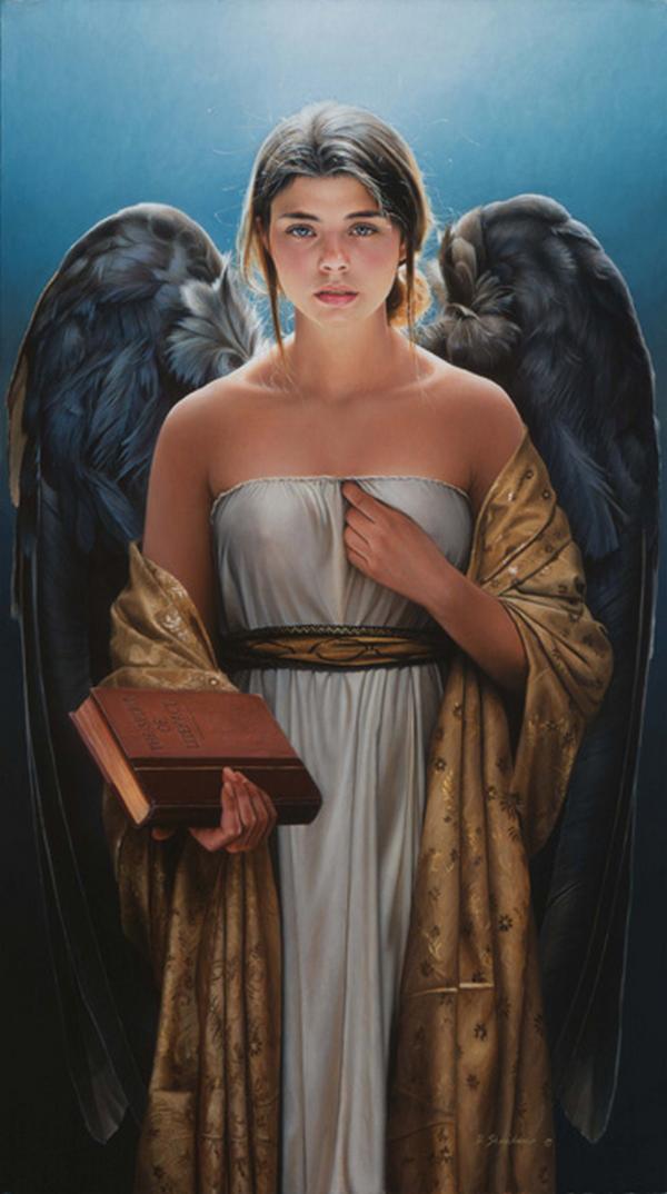 Le livre de l'Ange Tableau ! | Ange, Art à thème ange, Dark angels