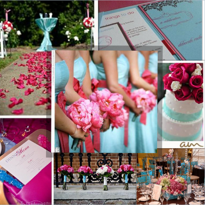 Wedding Theme Shades Of Pink And Tiffany Blue Similar To The Idea Seafoam C