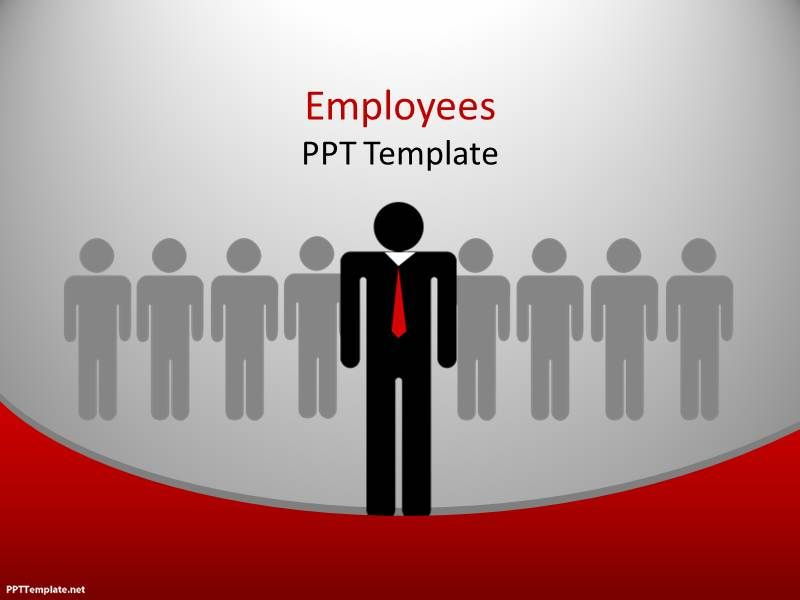 Free Employees PPT Template for sales presentations and team work - sales presentation template