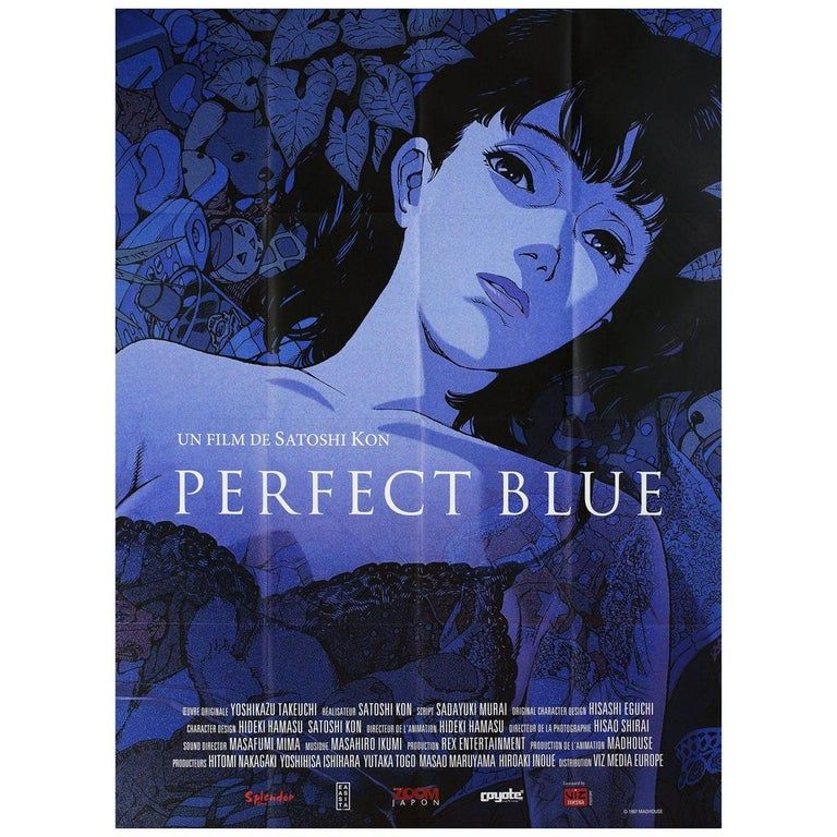 Perfect Blue R2010s French Grande Film Poster In 2020 Animated Movie Posters Blue Poster Anime Films