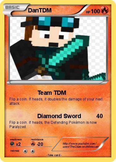 Pokémon DanTDM 3 3 - Team TDM - My Pokemon Card | Minecraft players
