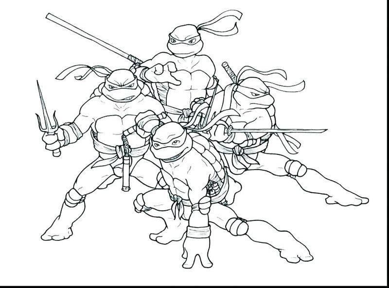 Teenage Ninja Turtle Coloring Pages Nickelodeon Ninja Turtle Tmnt