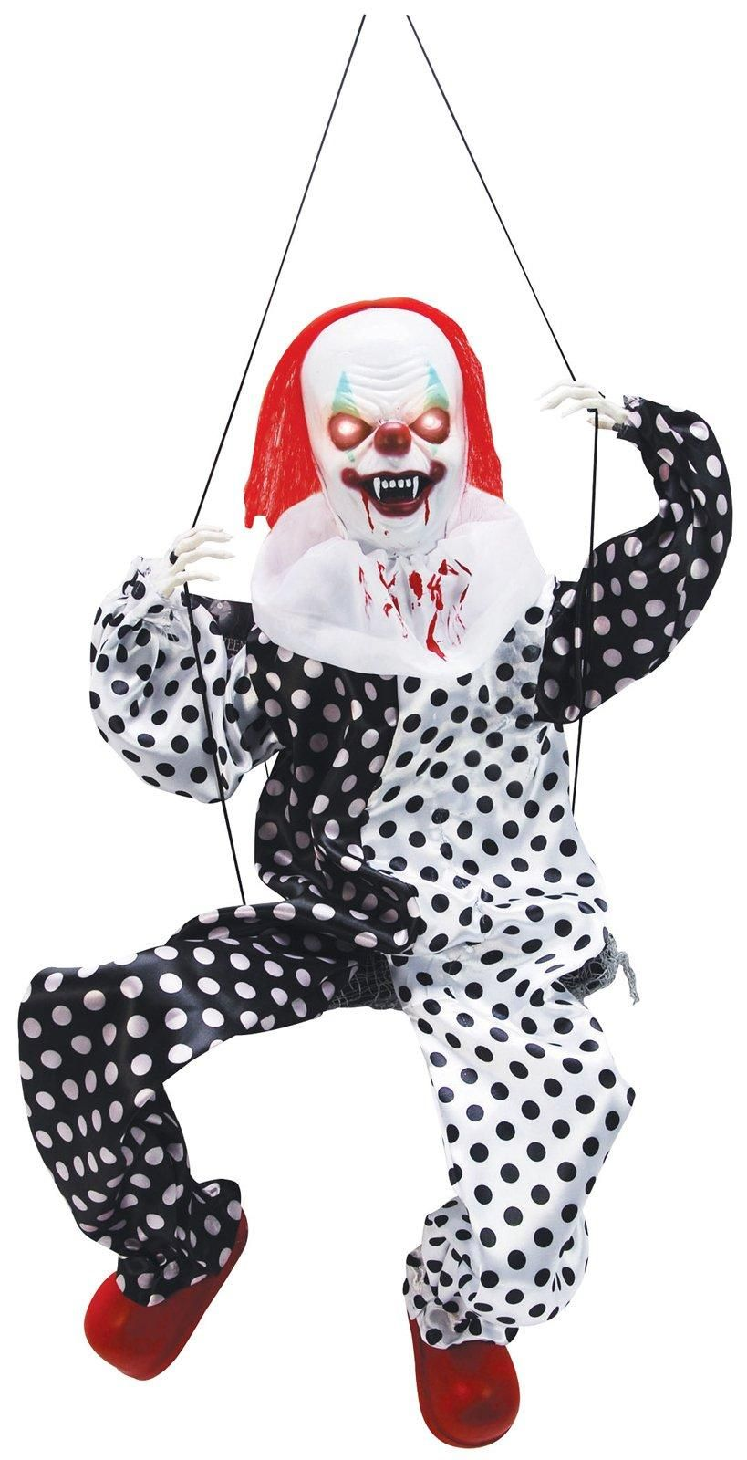 Animated Scary Clown on Swing from