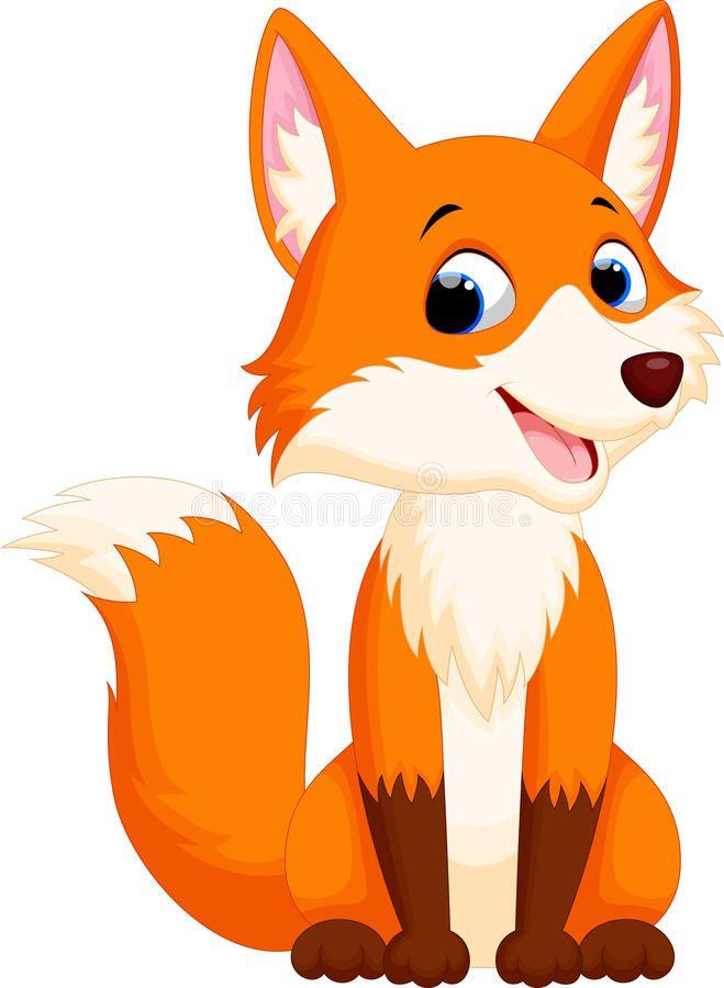 Cute fox cartoon stock illustration. Illustration of creature – 61377289