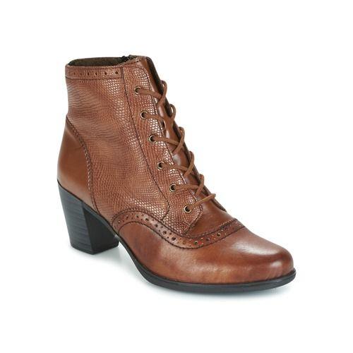 Chaussures Marron Avec Fermeture À Glissière Haute / Dentelle Rieker 9StCKd