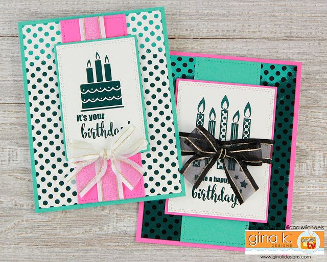 Happy birthday card by juliana michaels featuring how to use gina k happy birthday card by juliana michaels featuring how to use gina k designs fancy foils scraps m4hsunfo